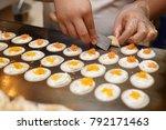 cooking fresh thai crispy... | Shutterstock . vector #792171463