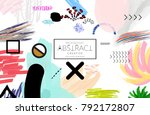 abstract universal art web... | Shutterstock .eps vector #792172807