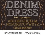 font.alphabet.script.typeface... | Shutterstock .eps vector #792192487