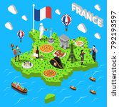 france isometric cultural...   Shutterstock .eps vector #792193597