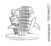 figure leaning tower of pisa...   Shutterstock .eps vector #792196477