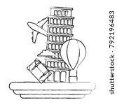 figure leaning tower of pisa...   Shutterstock .eps vector #792196483