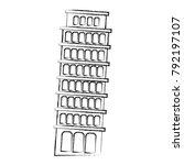 figure leaning tower of pisa...   Shutterstock .eps vector #792197107