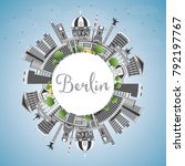 berlin germany city skyline... | Shutterstock .eps vector #792197767