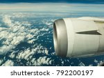 engine of the on sky plane... | Shutterstock . vector #792200197