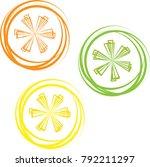 whole shiny orange  grapefruit  ...   Shutterstock .eps vector #792211297