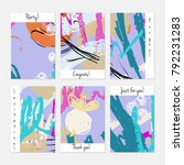 hand drawn creative universal... | Shutterstock .eps vector #792231283