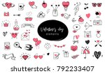love doodles  hand drawn... | Shutterstock .eps vector #792233407