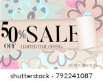 sale advertisement banner on... | Shutterstock .eps vector #792241087