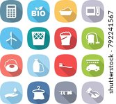 flat vector icon set  ... | Shutterstock .eps vector #792241567