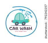 the emblem of the car wash.... | Shutterstock .eps vector #792242257