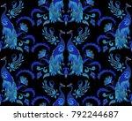 indian seamless pattern....   Shutterstock . vector #792244687