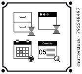 briefcase sandwatch icon vector  | Shutterstock .eps vector #792248497
