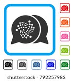 iota chat icon. flat grey...