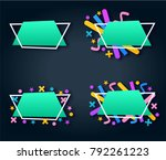 abstract geometric blue colored ... | Shutterstock .eps vector #792261223
