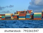 port with containers | Shutterstock . vector #792261547