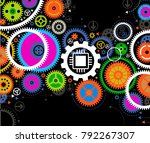 background consisting of bright ... | Shutterstock .eps vector #792267307