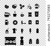 coffee icons with gray... | Shutterstock .eps vector #792273583