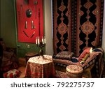 candles on the table  carpets... | Shutterstock . vector #792275737