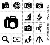 lens icons. set of 13 editable... | Shutterstock .eps vector #792278767