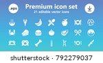 eat icons. set of 21 editable... | Shutterstock .eps vector #792279037