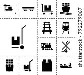 freight icons. set of 13... | Shutterstock .eps vector #792279067