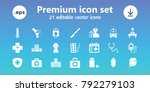doctor icons. set of 21...   Shutterstock .eps vector #792279103