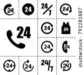 24 icons. set of 13 editable... | Shutterstock .eps vector #792281887