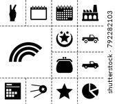 trendy icons. set of 13...