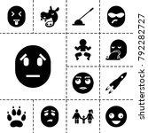 cartoon icons. set of 13... | Shutterstock .eps vector #792282727