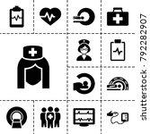 patient icons. set of 13... | Shutterstock .eps vector #792282907