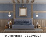 purple master bedroom with... | Shutterstock . vector #792295327