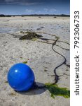 Old Buoy In Low Tide Covered...