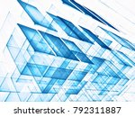 white and blue technology style ... | Shutterstock . vector #792311887