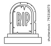 tombstone icon. outline... | Shutterstock .eps vector #792318073