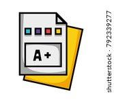 education qualification school...   Shutterstock .eps vector #792339277
