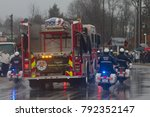 firefighters line the route for ... | Shutterstock . vector #792352147