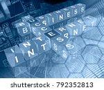 computer background in blues  ... | Shutterstock . vector #792352813