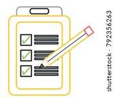 checklist icon image | Shutterstock .eps vector #792356263