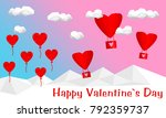 heart  cloud and air balloon... | Shutterstock .eps vector #792359737