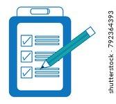 checklist icon image | Shutterstock .eps vector #792364393