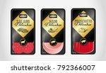 salami  ham  prosciutto... | Shutterstock .eps vector #792366007