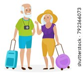 old senior people tourists with ... | Shutterstock . vector #792366073