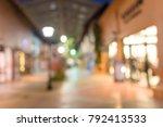 abstract blur walkway in... | Shutterstock . vector #792413533