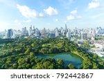 lumpinee garden and sathorn... | Shutterstock . vector #792442867