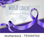 4 february world cancer... | Shutterstock .eps vector #792444763