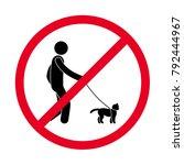 prohibiting sign pet owner... | Shutterstock .eps vector #792444967
