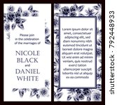romantic invitation. wedding ... | Shutterstock . vector #792448933
