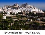 external view of ostuni the... | Shutterstock . vector #792455707