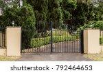 metal driveway entrance gates... | Shutterstock . vector #792464653
